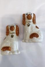 "Vintage Petite Staffordshire Dog Pair 2.5"" Tall"