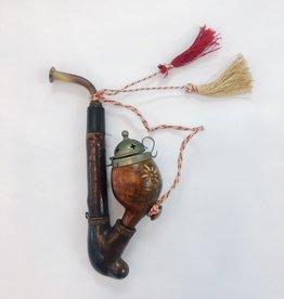 "Antique Swiss Pipe Carved ""Pilatus Kulm"""