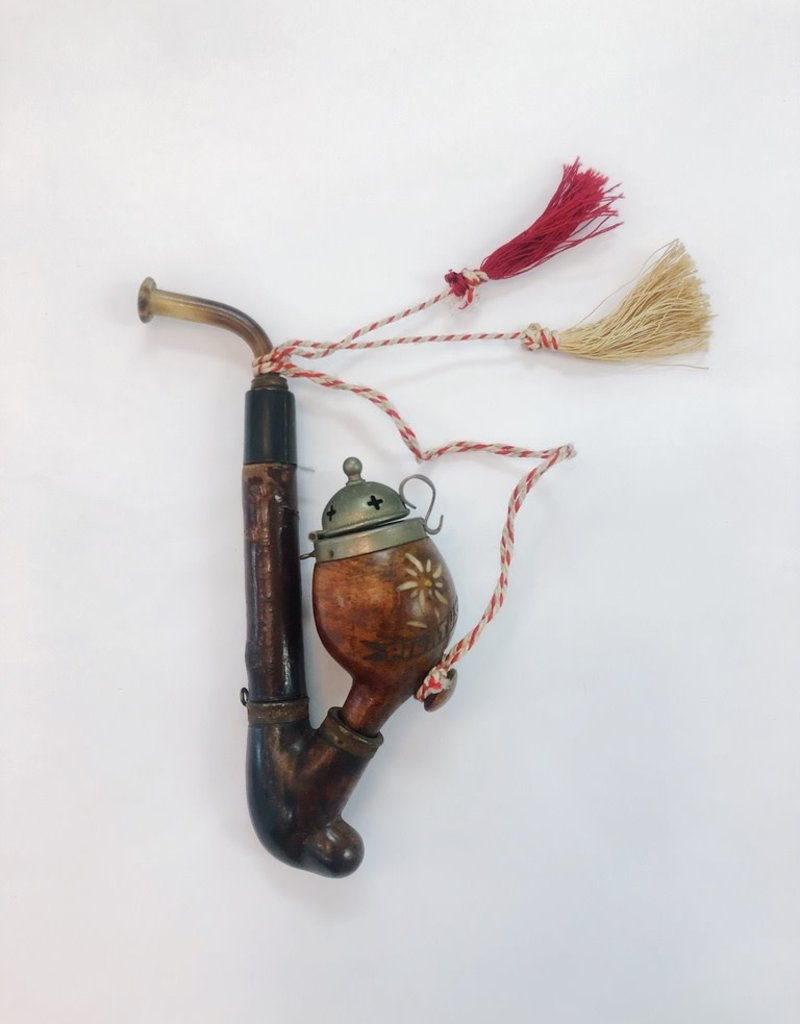 "Vintage Antique Swiss Pipe Carved ""Pilatus Kulm"""