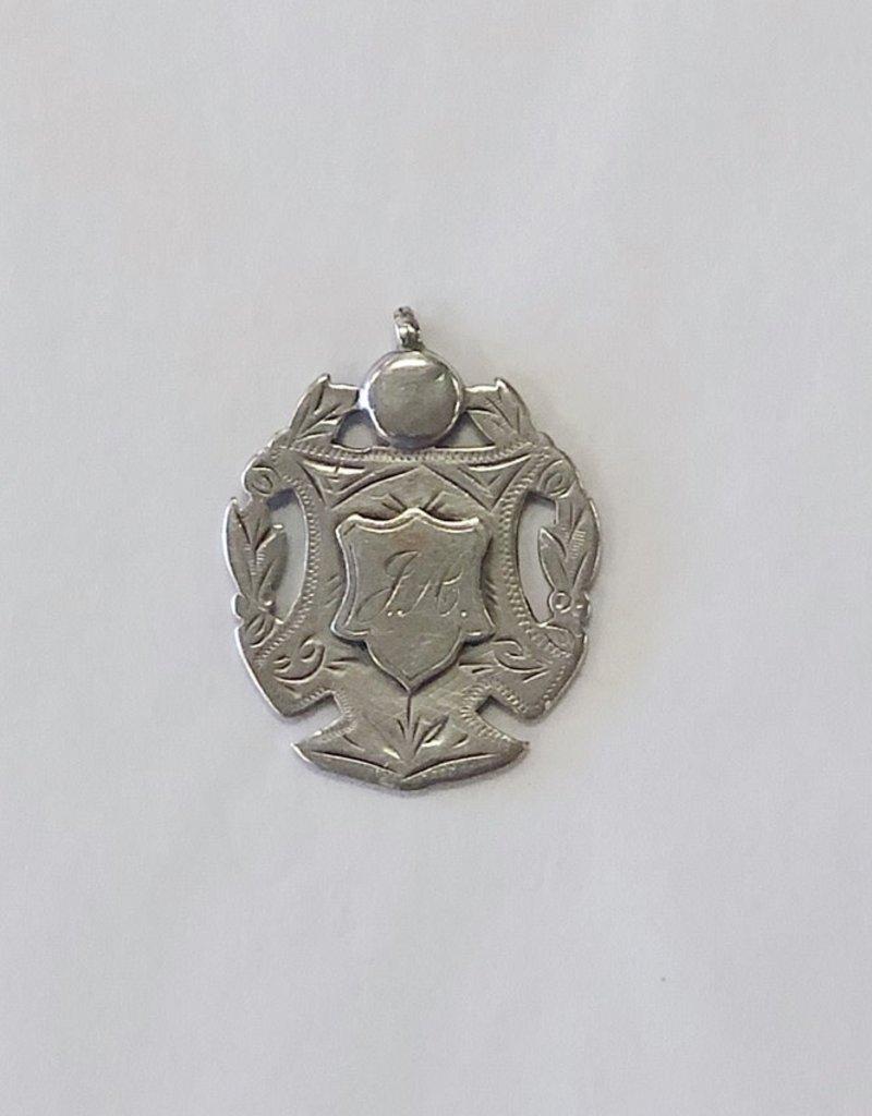 Vintage Brittish Medal - Engraved J.A. Dated 1909-1910