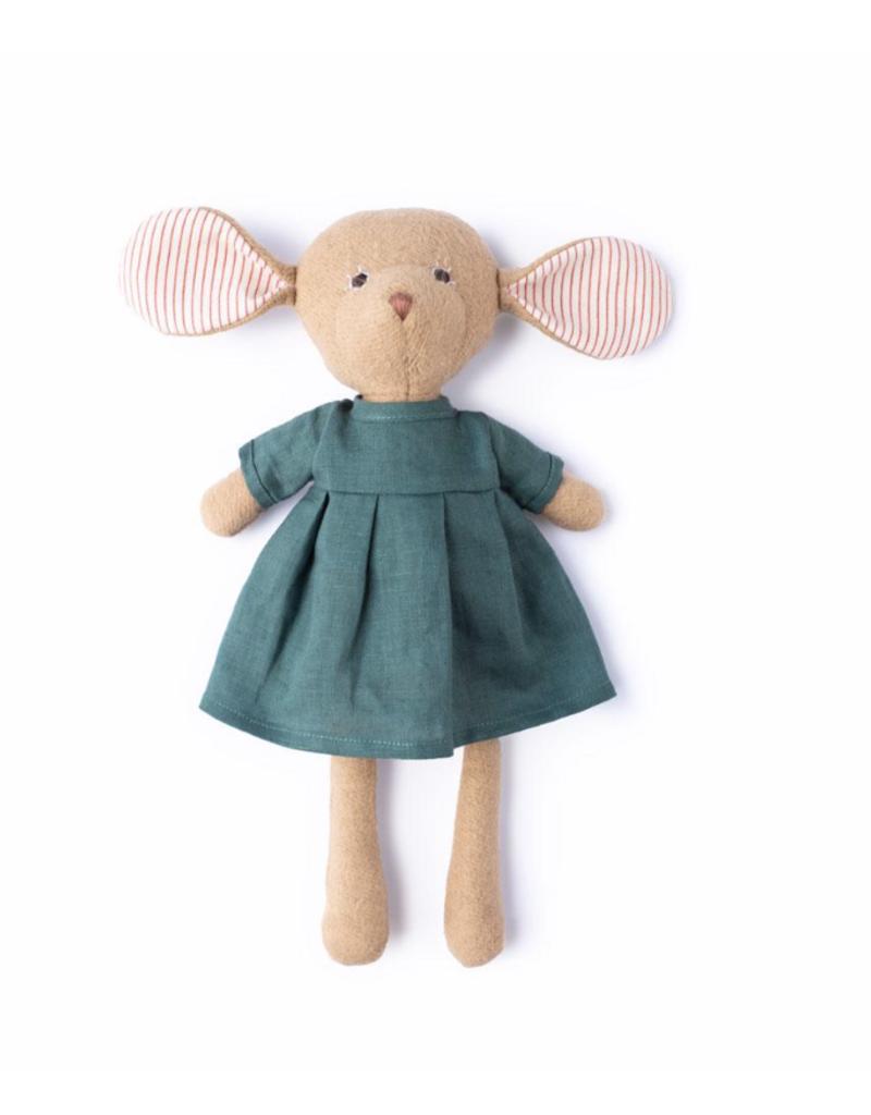 Hazel Village Annicke Mouse in River Green Linen Dress