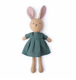 Hazel Village Juliette Rabbit in River Green Linen Dress