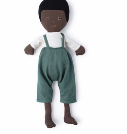 Hazel Village William in Natural Shirt and River Green Overalls