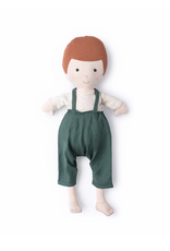 Hazel Village Charlie in Natural Shirt and River Green Overalls