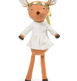 Hazel Village Pheobe Fawn in White Tunic