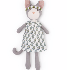 Hazel Village Gracie Cat in Tea party Dress and Flower Crown