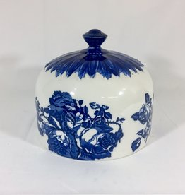 Vintage Antique Flow Blue Cheese or Cake Dome