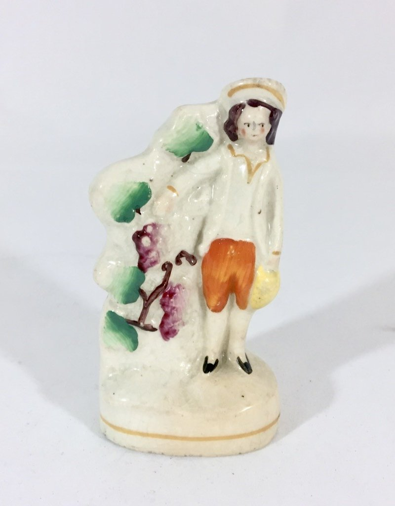 Vintage Petite Staffordshire Man with Grapes