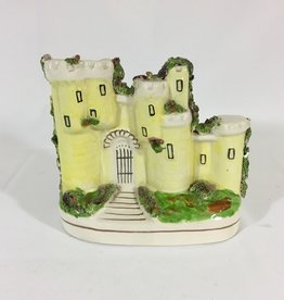 Vintage Staffordshire Castle - Pale Yellow