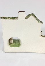 Vintage Staffordshire Cottage Yellow Roof & Lamb