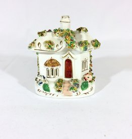 Vintage Petite Porcelain Cottage - Gold Accents