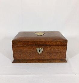 English Wooden Box with Shield