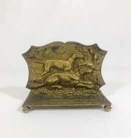 Brass Hound Letter Holder
