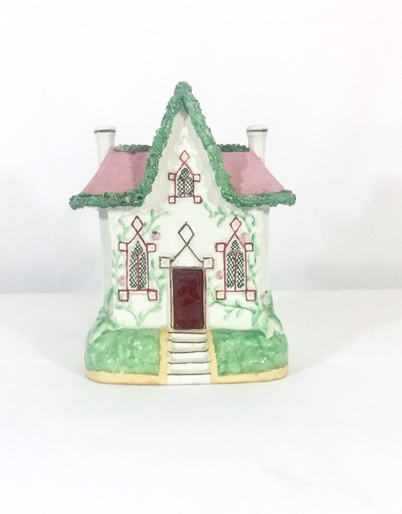 Vintage Staffordshire House Pink Roof