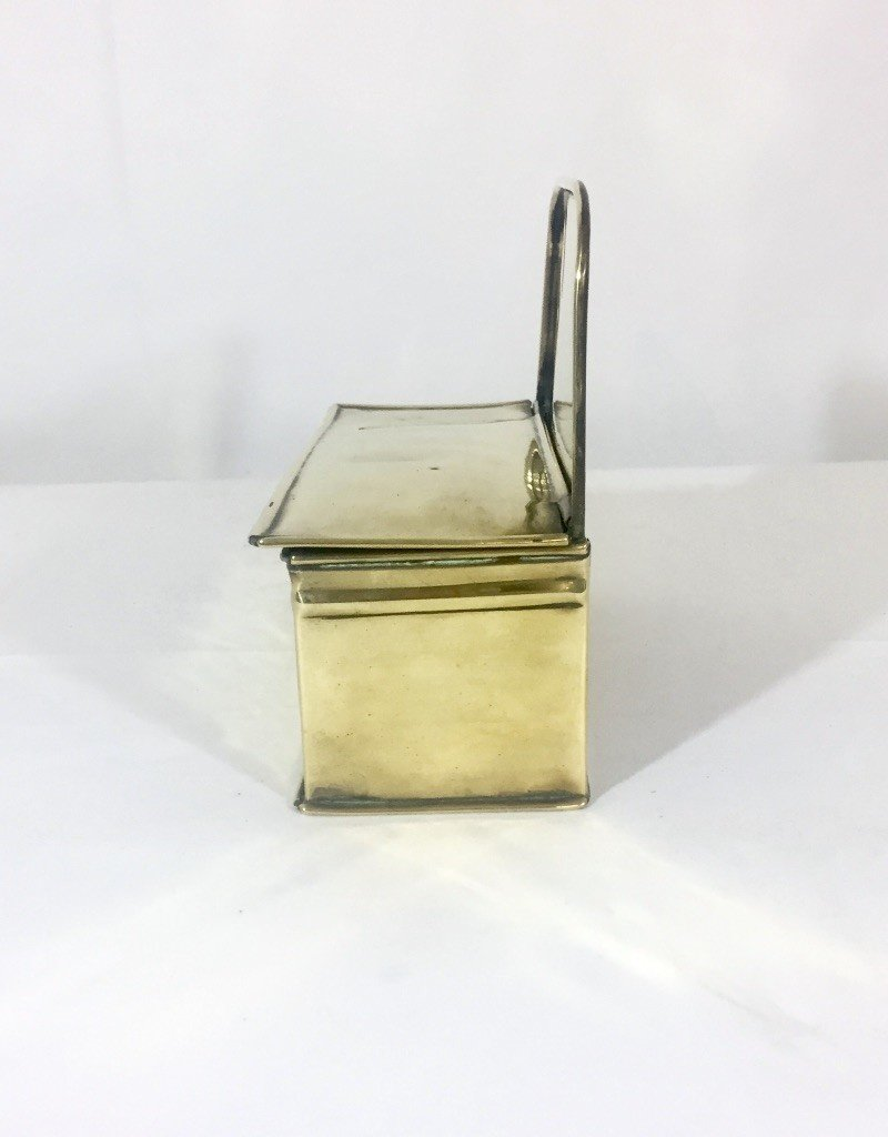 Vintage Brass Firebox w/ Lid