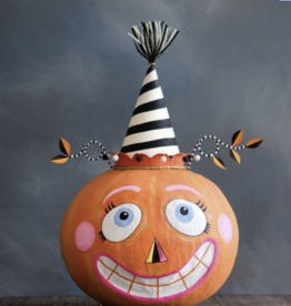 Large Party Pumpkin - Stripped Hat