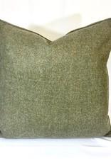 English English Wool Pillow - Green & Red Plaid