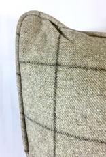 English Wool Pillow - Tan Plaid