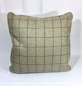 English Wool Pillow Sham - Tan Plaid