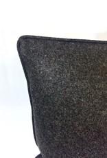 English Wool Pillow - Dark Brown