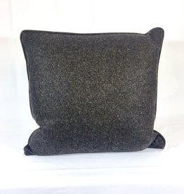 Vintage English Wool Pillow Sham - Dark Brown