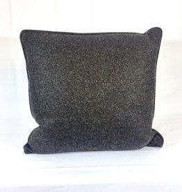 Vintage English Wool Pillow Sham - Dark Brown