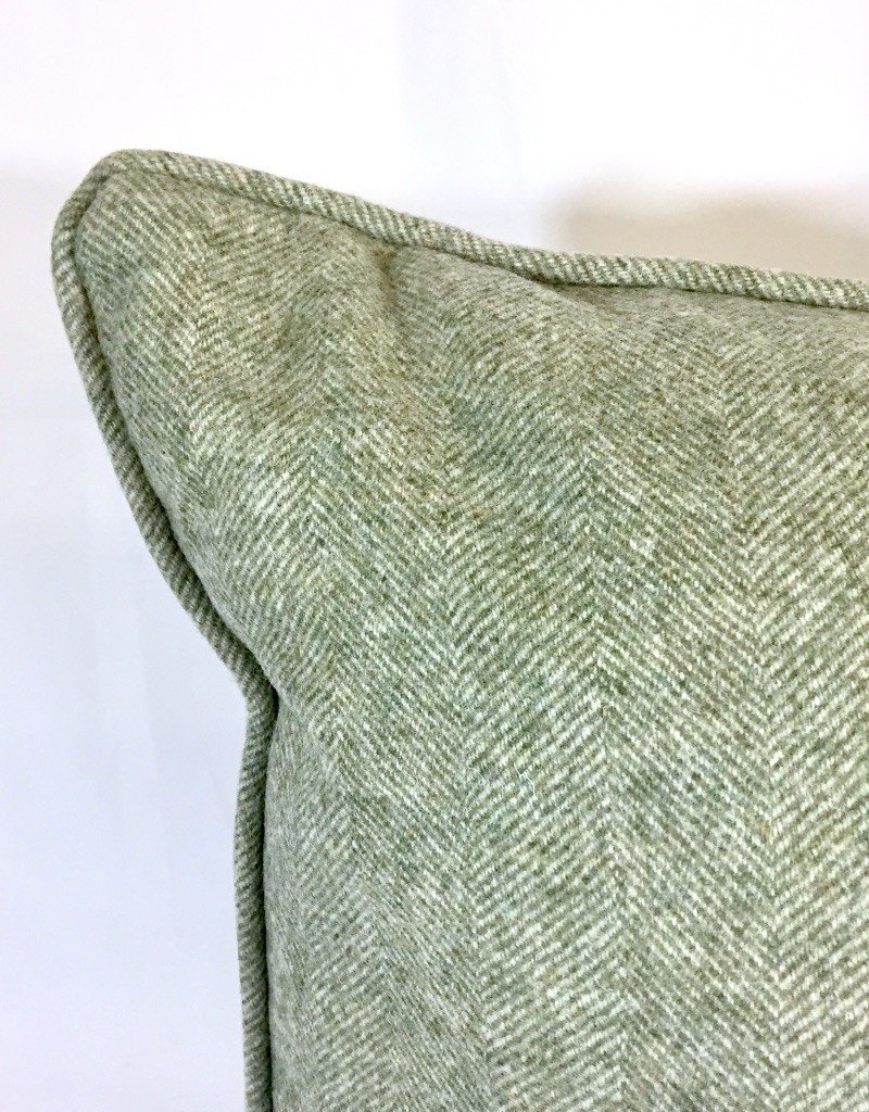 English English Wool Pillow - Light Green