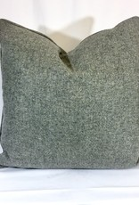English Wool Pillow - Medium Grey