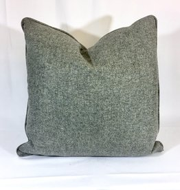 English Wool Pillow Sham  - Medium Grey