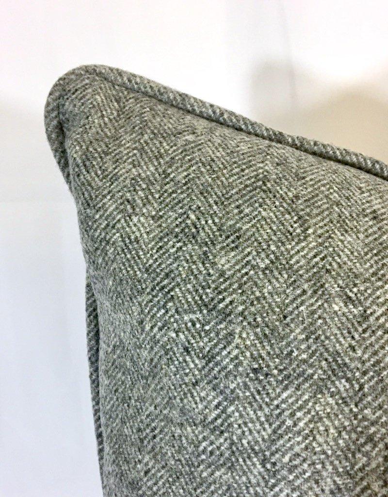 English English Wool Pillow - Medium Grey