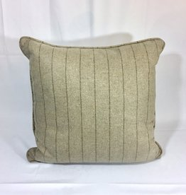 English Wool Pillow Sham - Tan Stripe