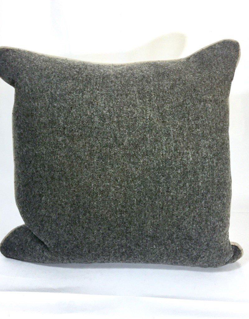 English Wool Pillow - Tan Stripe