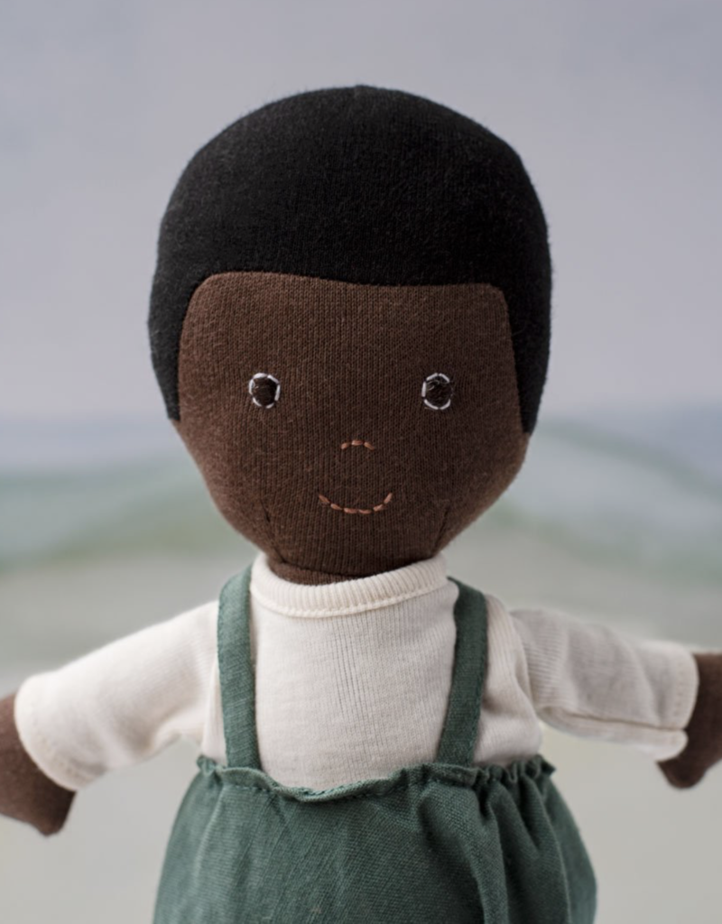Hazel Village Linen Overalls For Dolls