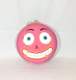 "Halloween Macaron 12"" -  Pink Jack-O-Latern"
