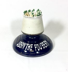 Vintage Antique Match Strike Navy & White