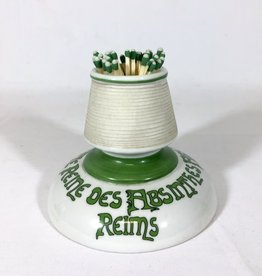 Antique Match Strike Kelly Green & White