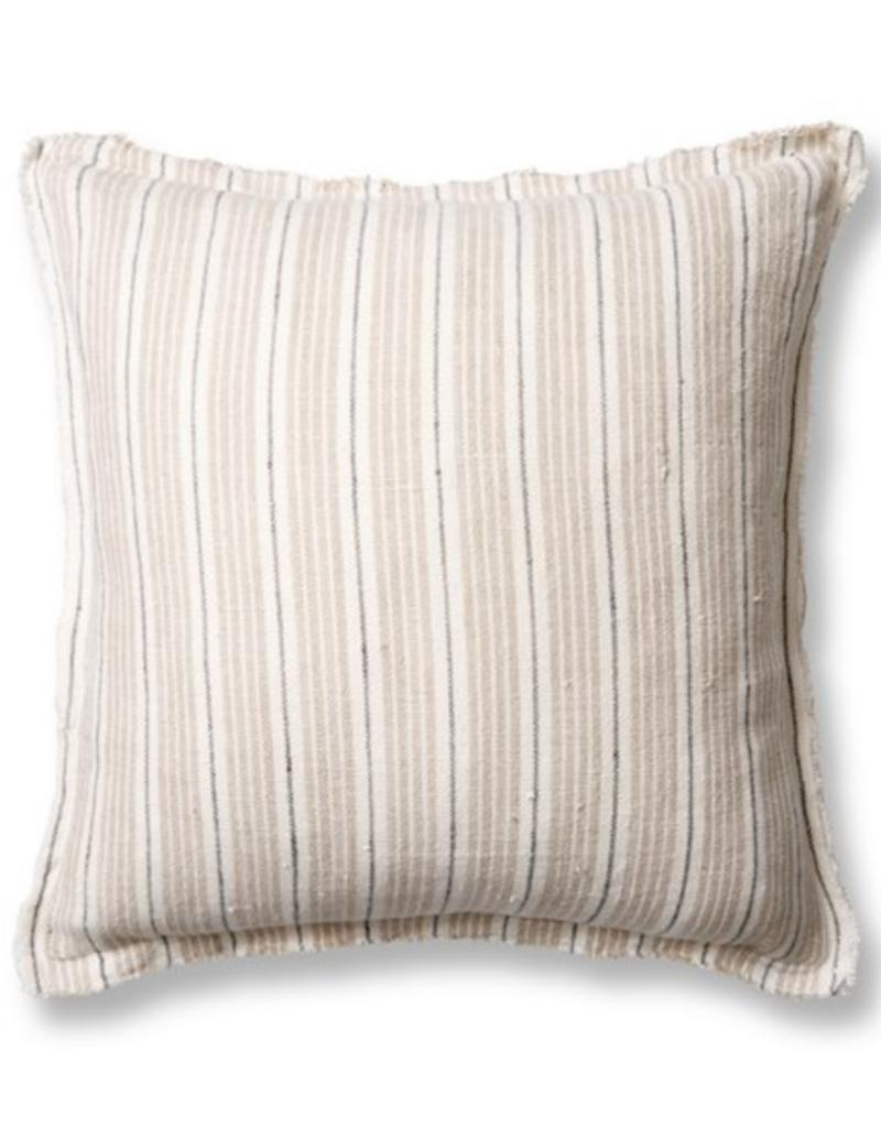 "Pom Pom at Home Newport Natural/Midnight 20"" Pillow w/ Insert"