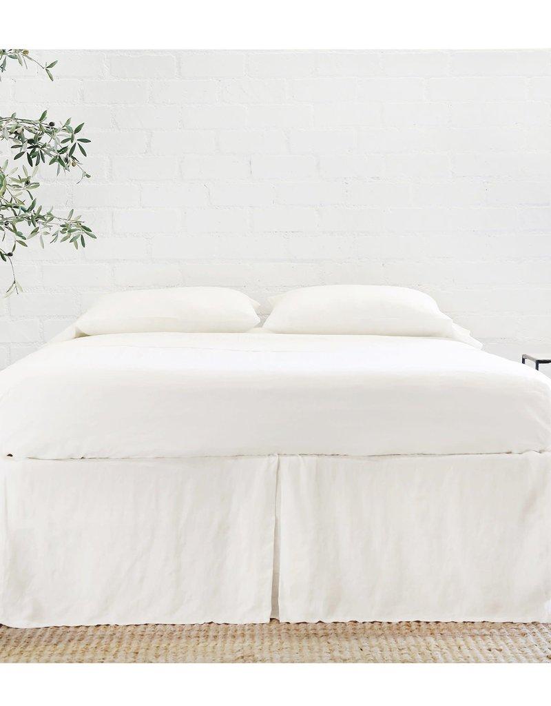 Pom Pom at Home Pleated Linen Bedskirt - White