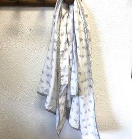 Mela & Roam Dohar Baby Blanket - Taupe Flamingo