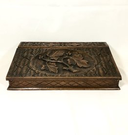 Vintage Carved Wooden Lap Desk
