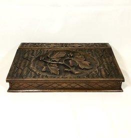 Vintage Carved Wooden Lap Desk