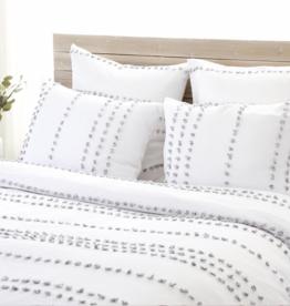 POPPY- White/Grey - Twin Blanket Set