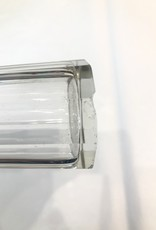 Vintage English Glass Sugar Shaker Ribbed (Small Chip On Base)