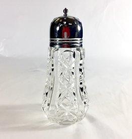Vintage English Sugar Shaker - Glass Bow Tie Design