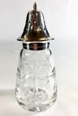 Vintage English Glass Sugar Shaker Bell Top Drape & Star Design
