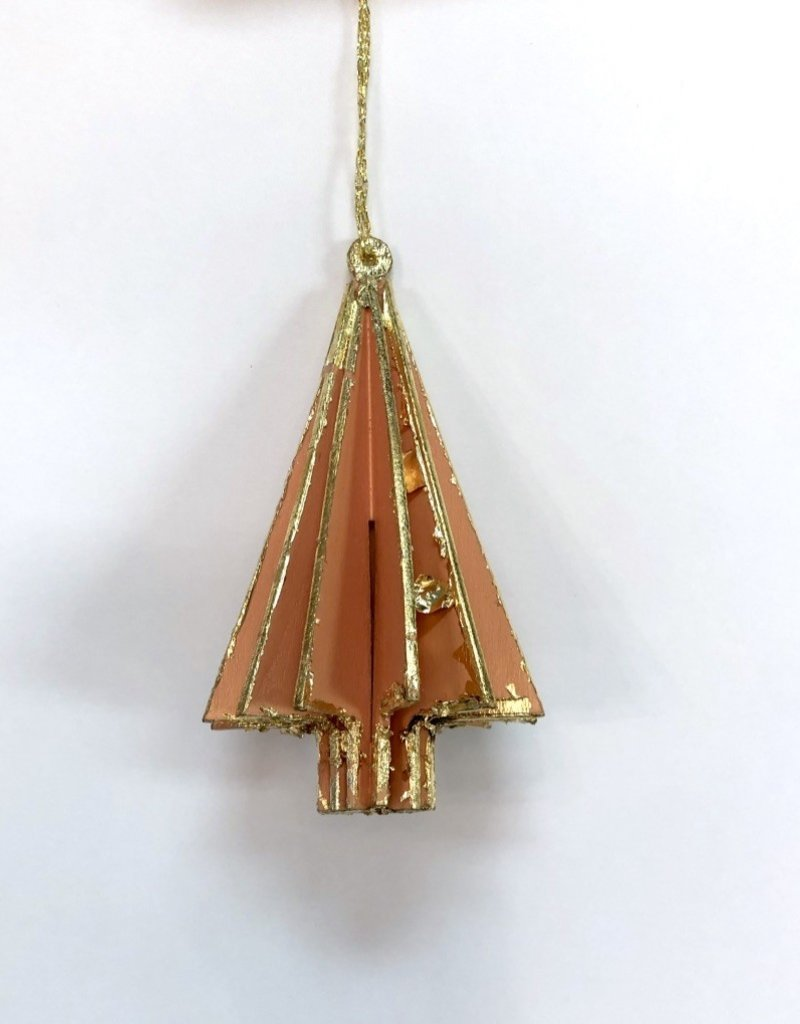 Wood Tree Ornament - Peach
