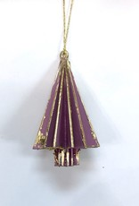 Wood Tree Ornament - Purple