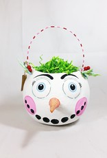 Frosty Folly Paper Mache Bucket