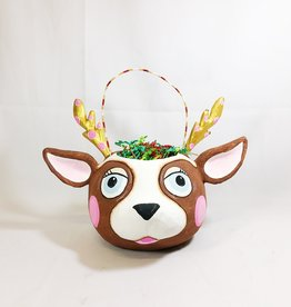 La Renne The Reindeer Paper Mache Bucket