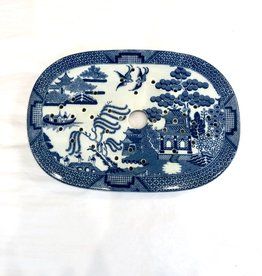 Vintage Blue Willow Strainer